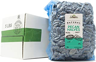 La Nogalera Pecans - Fresh Crop of natural halves in 5 lbs vacuum sealed bag. Raw pecan nuts that compare to organic, NO S...