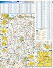 Indiana State Wall Map - 20.5