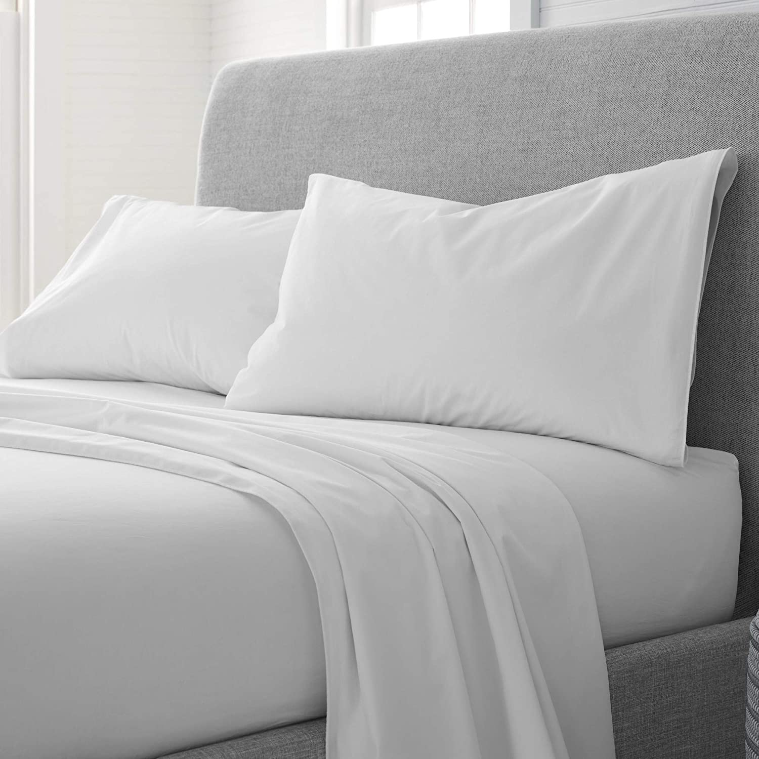 Cheap mail order shopping EcoPure Comfort Wash Sheet White Set New sales Full Soft