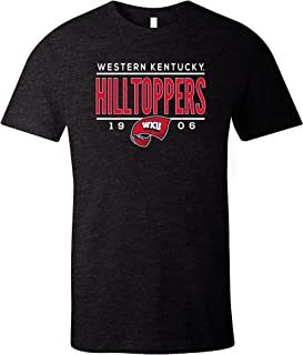 NCAA Western Kentucky Hill toppers Tradition Short Sleeve Tri-Blend T-Shirt, Solid Black,XX-Large