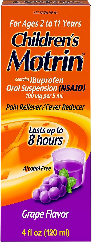 Children's Detroit Mall Department store Motrin Oral Suspension Relief Pain Ibuprofen Grape