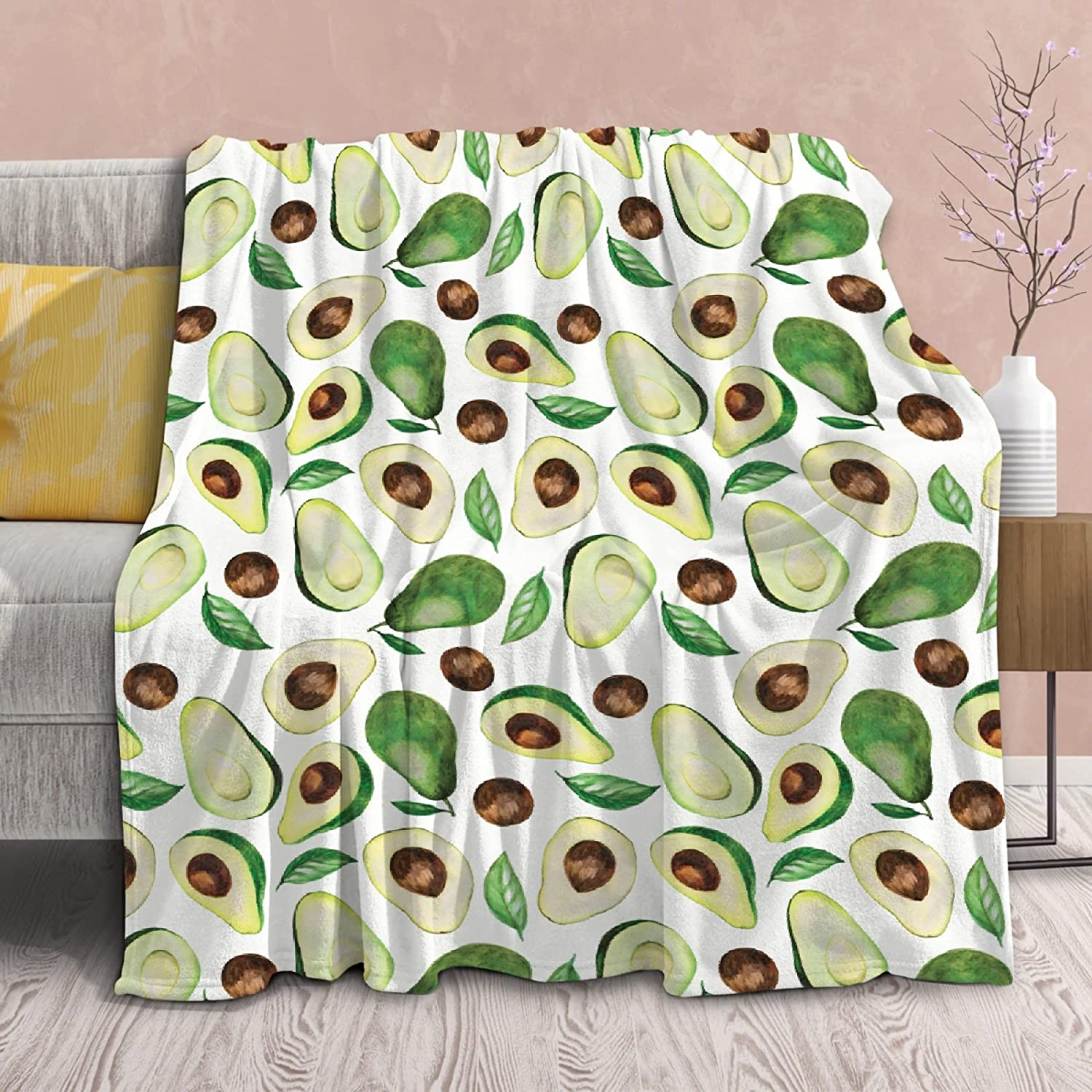 Cute Fruit Avocado Pattern Blanket Soft Super sale Topics on TV period limited Ultra Throw Lightweight