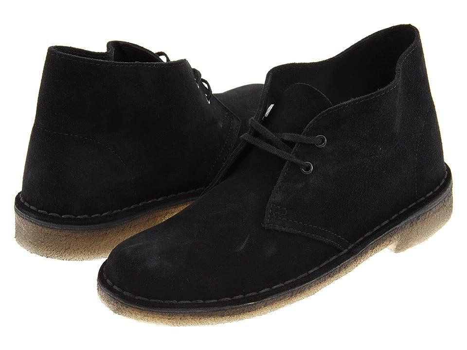 Clarks Desert Boot (Black Suede 2) Women