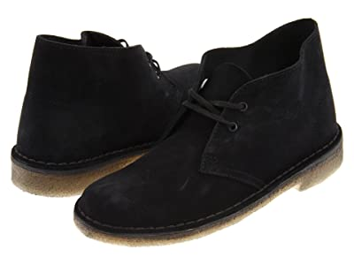Clarks Desert Boot (Black Suede) Women