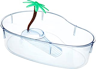 Lee's Turtle Lagoon, Kidney w/Plant, 12-Inch by 8-5/8-Inch by 3-Inch