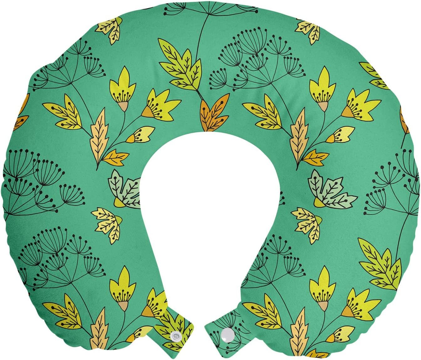Ambesonne Floral Travel Pillow Neck Season Col Rest Baltimore Mall Fall Autumn Max 41% OFF
