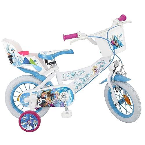 Toimsa Frozen Vélo pour Enfant sous Licence la Reine de Neige 12 Pouce de 3 à 5 Ans, 681U