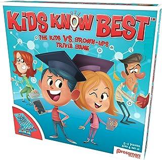 Pressman 2703 Kids Know Best Board Game, Blue