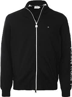 Calvin Klein Men's Zip-Through Sleeve Logo Sweatshirt Black