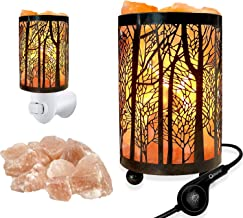 Set of 2 Pack Forest Himalayan Salt Lamp Table Lamp Night Light(4.1x6.5in),Touch Dimmer Switch Control with Wall Night Light Set,Perfect Fit Himalayan Gray Salt Lamp