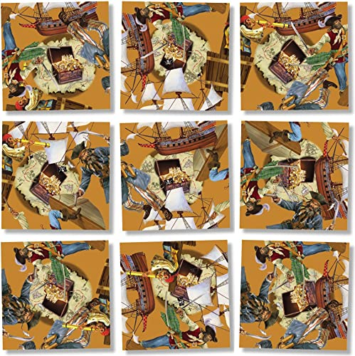 B Dazzle Pirates Scramble Squares 9 Piece Puzzle