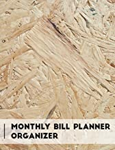 Monthly Bill Planner Organizer: Texture Design Personal Money Management With Calendar 2018-2019 Step-by-Step Guide to check your Financial Health ... Journal Planning Workbook) (Volume 84)