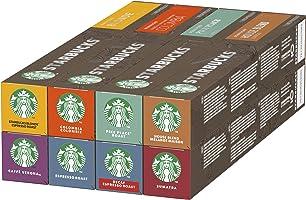 Starbucks By Nespresso koffiecapsules proefset, 8 smaken (8 doosjes à 10 koffiecups)