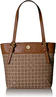 Anne Klein womens Jacquard Small Pocket Tote Tote Bag