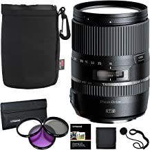 Tamron 16-300 mm AFB016C700 F/3.5 6.3 Di II VC PZD Macro Interchangeable Lens for Canon Cameras B016 + Polaroid 3 Piece Filter Kit + Ritz Gear Lens Pouch + Polaroid Accessory Bundle
