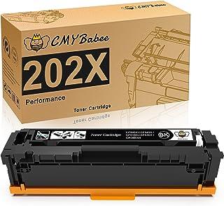 CMYBabee Compatible Toner Cartridges Replacement for HP 202X 202A CF500X for HP Laserjet Pro M281fdw M254dw M254dn M254nw ...