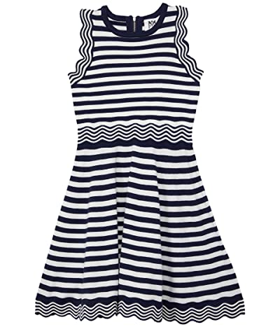 Milly Minis Textured Wave Flare Dress (Big Kids) Girl