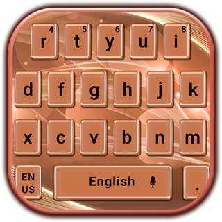 Rose Gold Silk Keyboard Theme