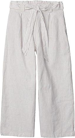 Khaki/Cream Small Stripe