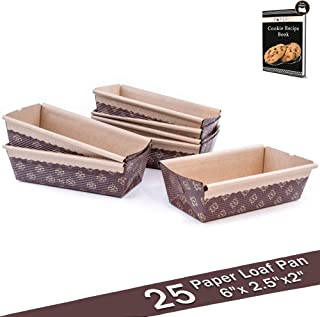 christmas paper mini loaf pans