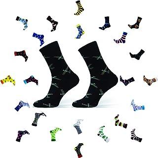 Sesto Senso, Calcetines Divertidos Algodón Mujer Hombre Locos Coloridos Funny Socks