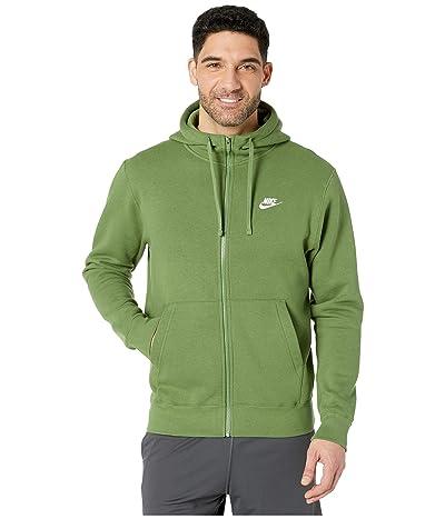 Nike NSW Club Hoodie Full Zip (Treeline/Treeline/White) Men