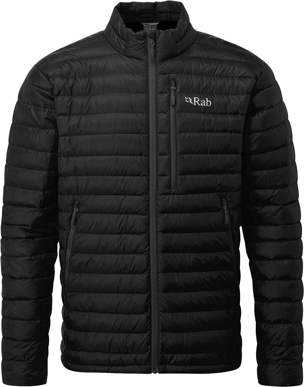 RAB Men's Microlight Jacket - Black/Shark - XS
