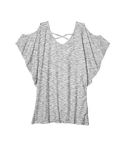 DOTTI Ocean Tide Cold-Shoulder Tunic Cover-Up (Grey) Women