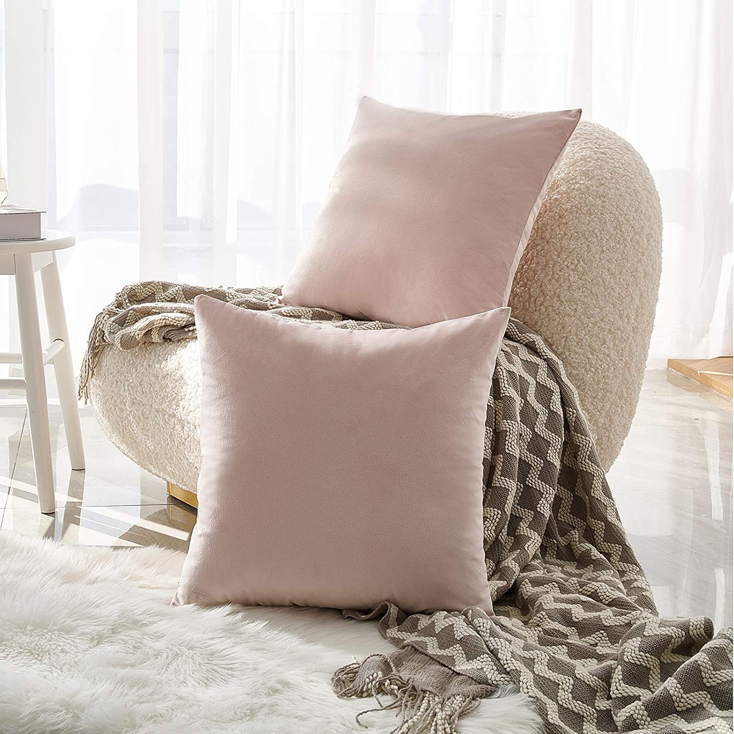NEERYO Velvet Cushion Covers Solid Free Shipping New Decorative Square Color Soft Limited time sale