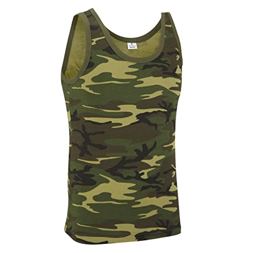 8698c53f58 Camouflage Military Vest Top - Woodland Camouflage