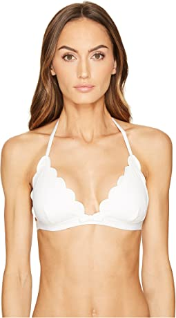 Kate Spade New York Core Solids #79 Scalloped Triangle Bikini Top w/ Removable Soft Cups