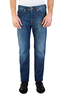 Men's Regular Slim-Tapered Fit Buster 0855L Jean Pants Dark Blue