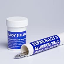 Super Alloy 5 Aluminum Welding and Brazing Rod & Flux Kit (Starter Kit 3/32 diameter)