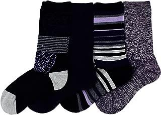 Ladies' Trail Socks Merino Wool (Purple), 4 Pairs, Fits Shoe Size: 4-10.5