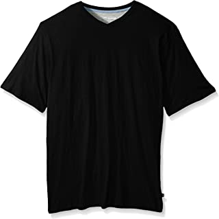 LEE Men's V-Neck T-Shirt | Short Sleeve, Casual, Soft Breathable Cotton, Tagless Undershirt | Regular Fit, Big and Tall