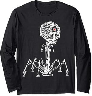 Steampunk Phage: Geeky Bacteria Virus Long Sleeve T-Shirt