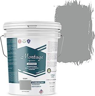 Montage Signature Interior/Exterior Eco-Friendly Paint, Twilight, Low Sheen, 5 Gallon