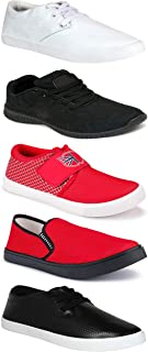 WORLD WEAR FOOTWEAR Sports Running Shoes/Casual/Sneakers/Loafers Shoes for MenMulticolors (Combo-(5)-1219-1221-1140-748-749)