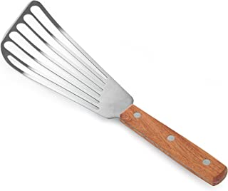 New Star Foodservice 43068 Wood Handle Fish Spatula, 6.5