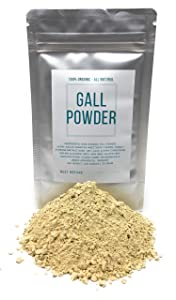 Gall Powder From Oak Trees - Natural Textile Dye - Dried & Organic Quercus Infectoria - Net Weight: 1.05oz/30g - Also Known As Spangle, Gallnut, Nutgall, Oak Apple And Oak Gall