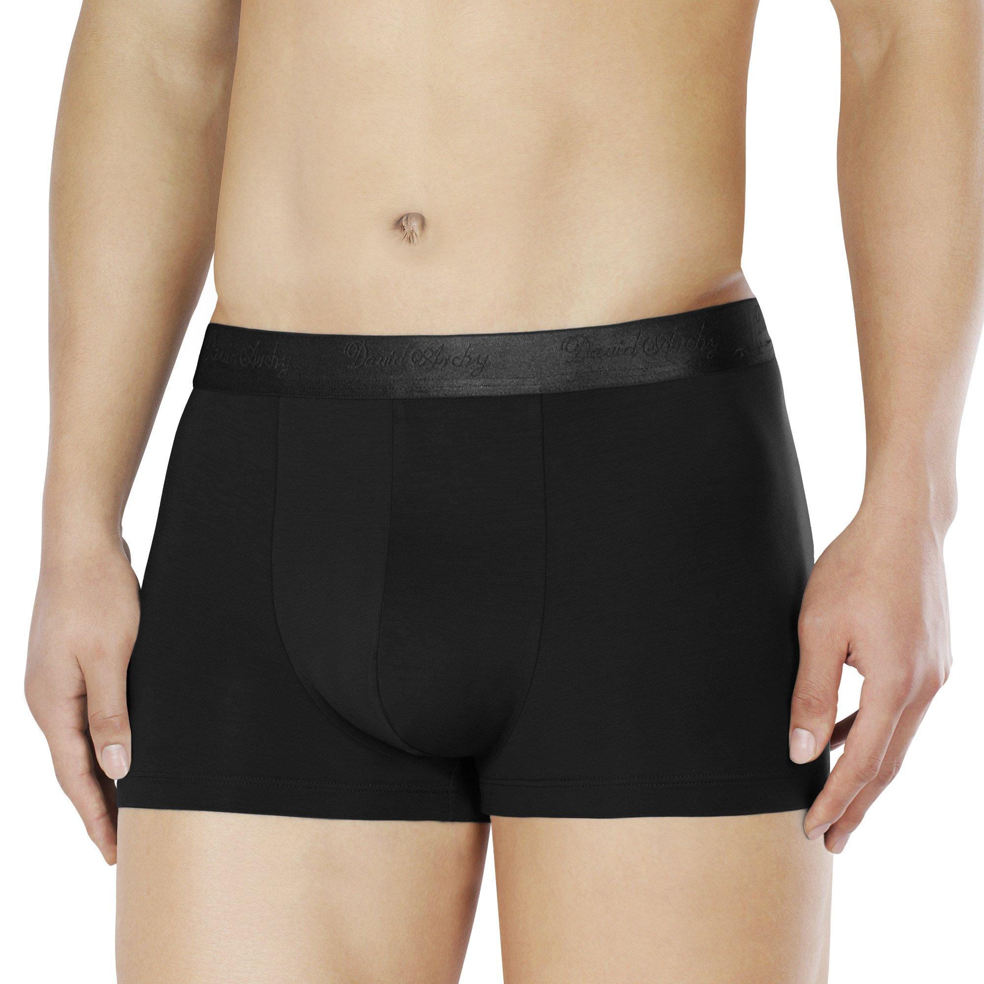 DAVID ARCHY Men's Underwear Soft Micro Modal Trunks 4 Pack