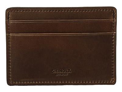 Shinola Detroit Navigator Six-Pocket Card Case (Medium Brown) Wallet Handbags