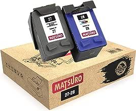 Matsuro Original | Compatible Remanufactured Cartuchos de Tinta Reemplazo para HP 27 28 (1 Set)