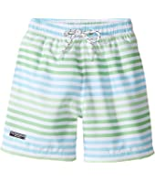 Toobydoo - Swim Shorts Multi Green Stripe (Infant/Toddler/Little Kids/Big Kids)