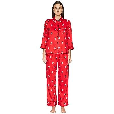 Kate Spade New York Sateen Long Pajama Set (Dolls) Women