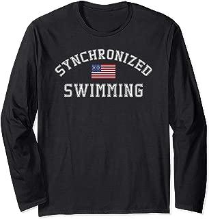 American Flag Synchronized Swimming Long Sleeve Shirt