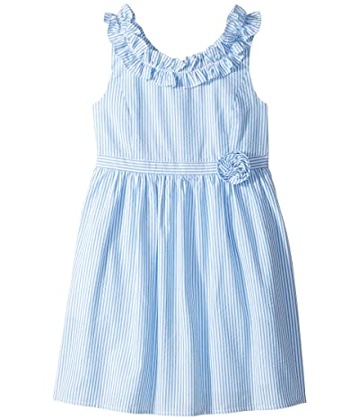 Lilly Pulitzer Kids Georgina Dress (Toddler/Little Kids/Big Kids) (Coastal Blue Seersucker) Girl