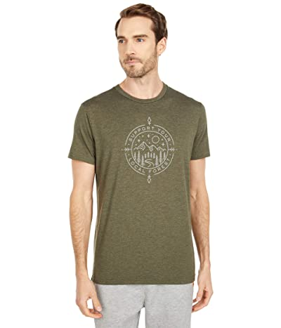 tentree Support Classic T-Shirt (Olive Night Green Heather) Men