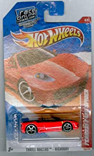 Hot Wheels 2011 Ferrari F430 Spider, 190/244 Thrill Racers - Highway 4/6, 1:64 Scale (Red)