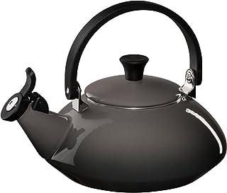 Le Creuset Q9213-7F Enamel-on-Steel Zen Teakettle, 1-2/3-Quart, Oyster